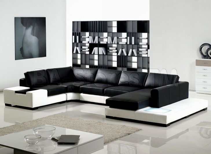 wonderful modern black leather sofa collection-New Modern Black Leather sofa Picture