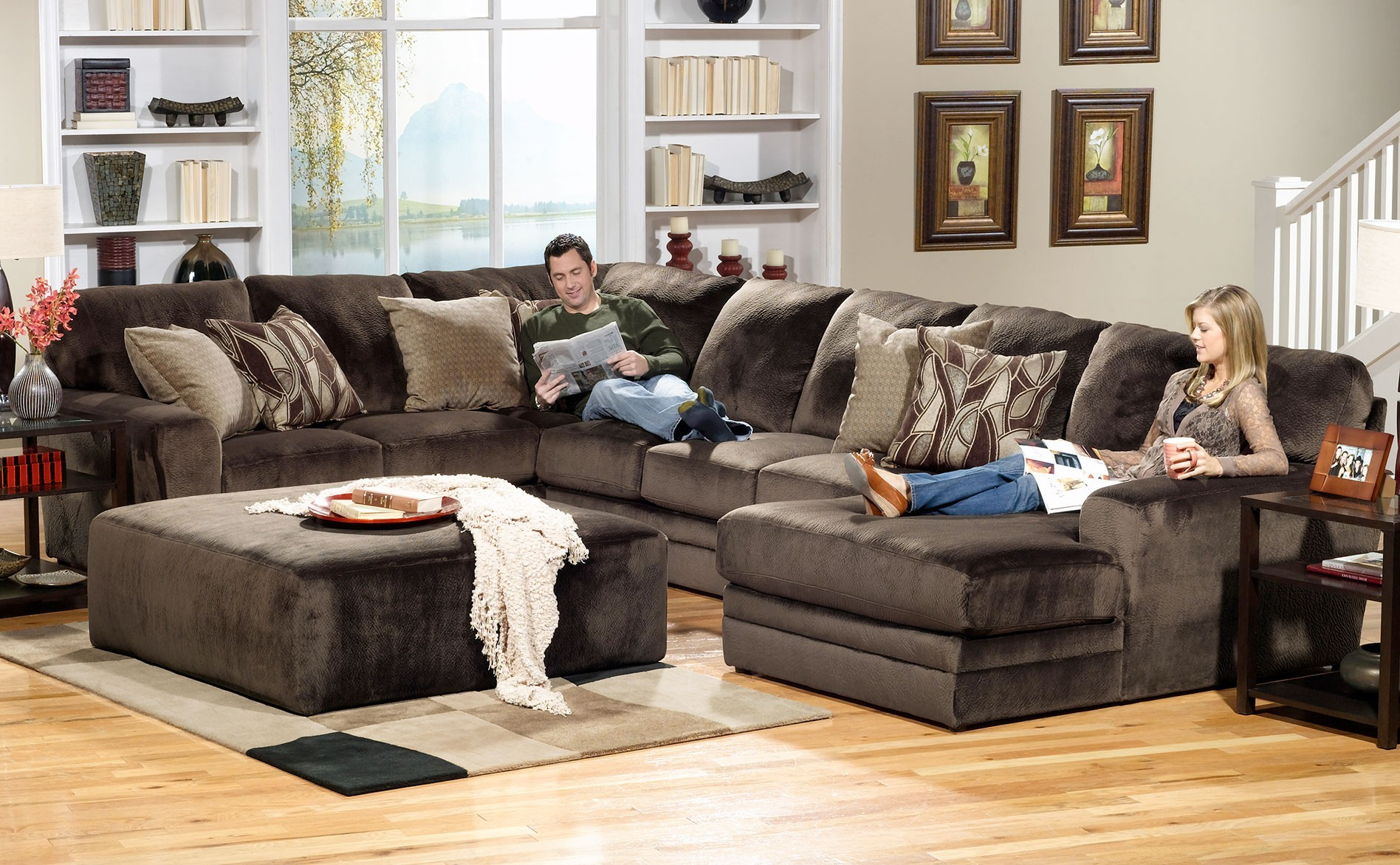 Elegant 9 Piece Sectional Sofa Picture