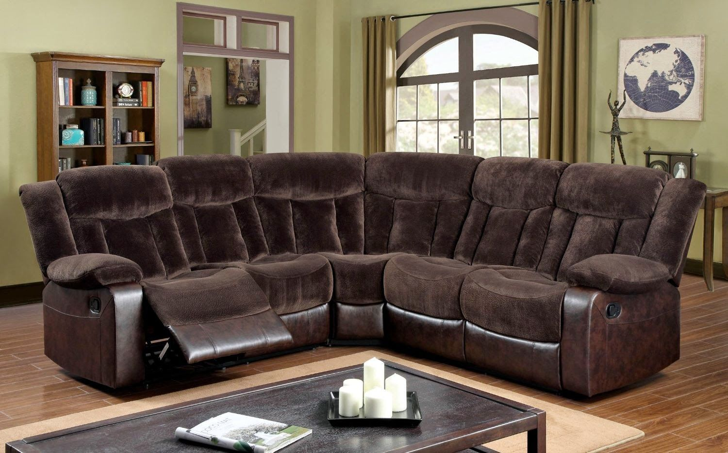 amazing leather sectional sofa with recliner model-Cool Leather Sectional sofa with Recliner Design