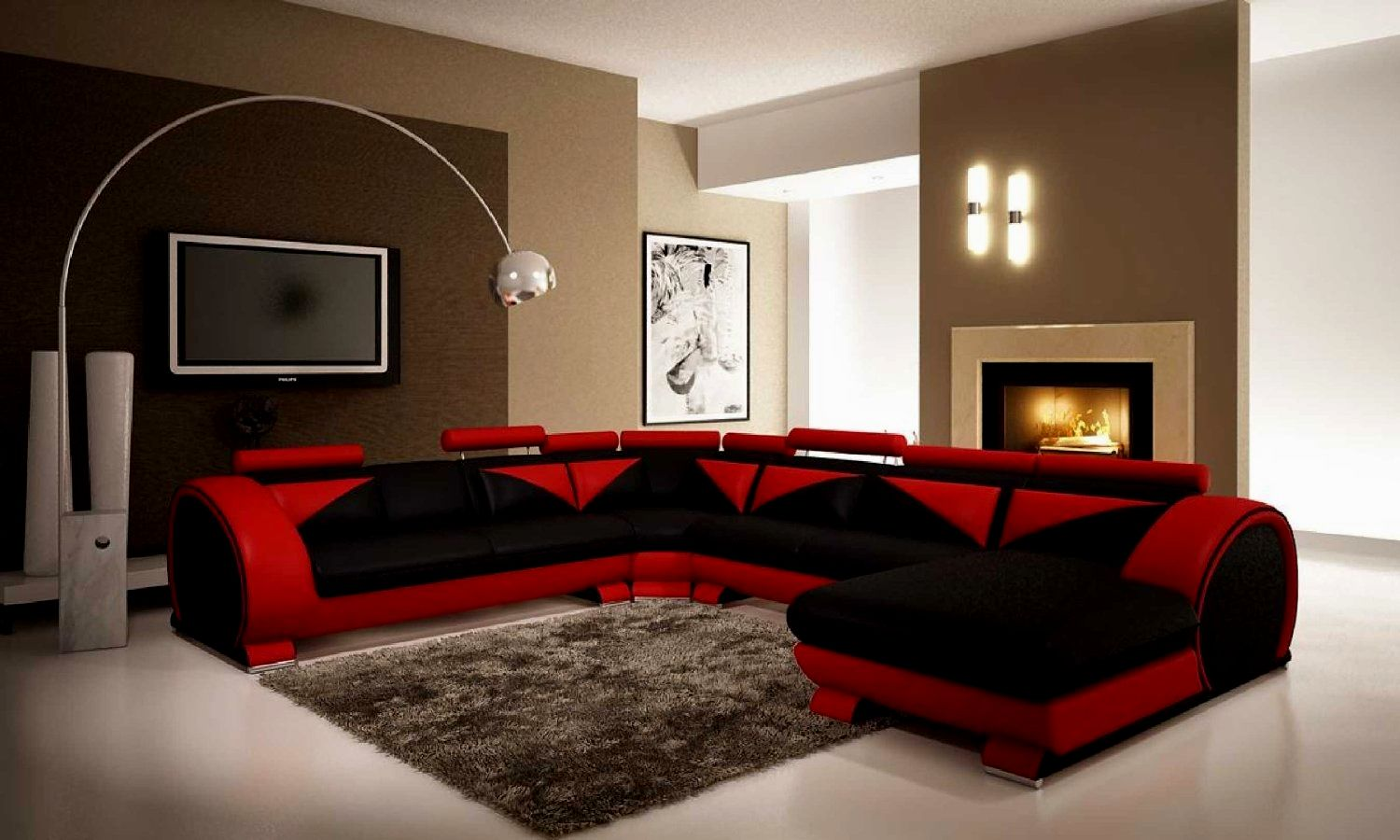 amazing red leather sectional sofa decoration-Fresh Red Leather Sectional sofa Plan