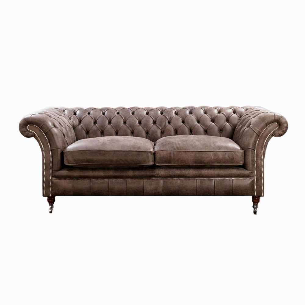 Box Type Sofa Designs: Excellent Brown Chesterfield Sofa Gallery