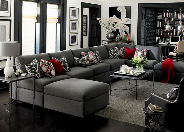 beautiful charcoal gray sectional sofa model-Elegant Charcoal Gray Sectional sofa Picture