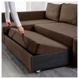 Bed sofa Couch top Friheten Corner sofa Bed with Storage Skiftebo Dark Gray Ikea Image
