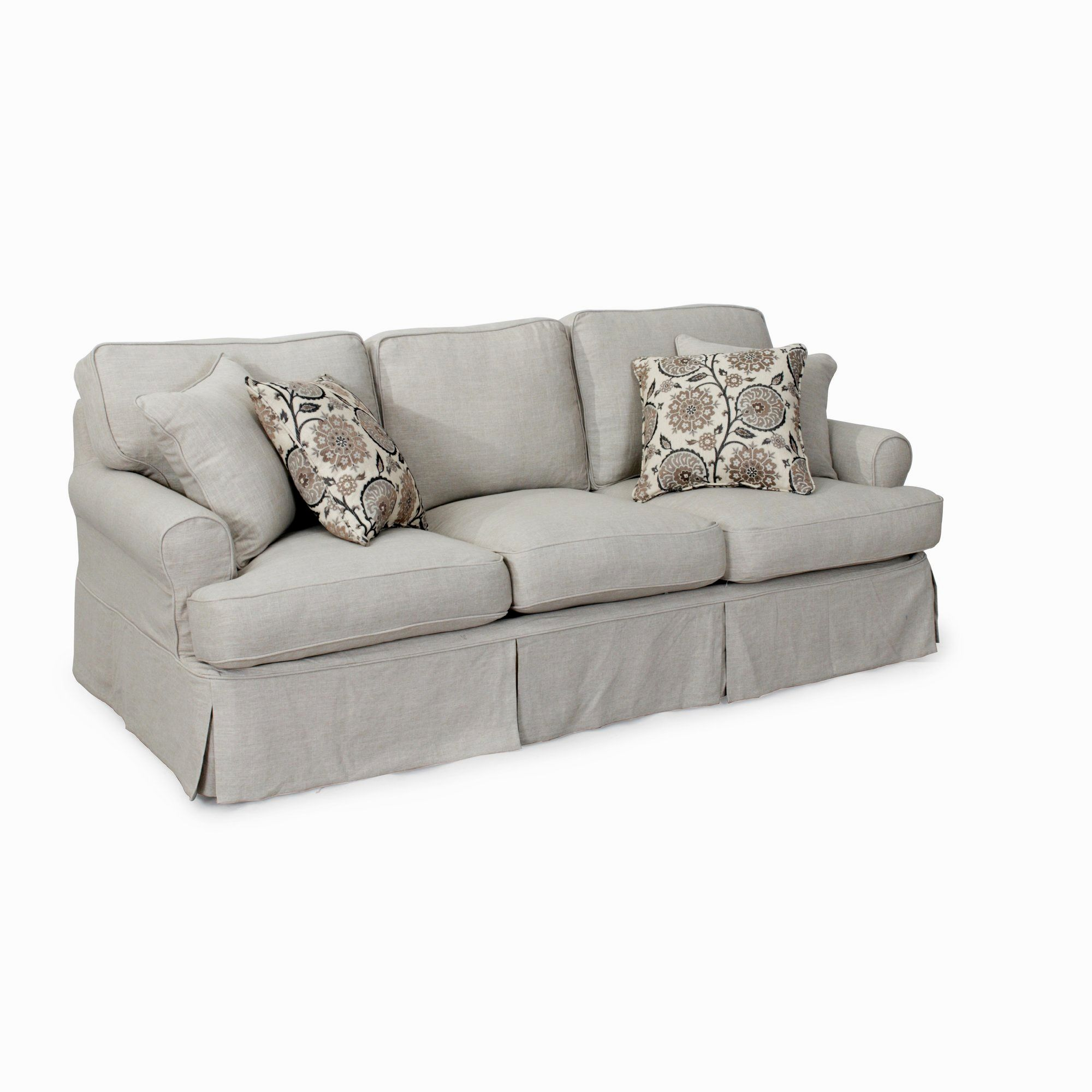 best 3 piece t cushion sofa slipcover photo-Awesome 3 Piece T Cushion sofa Slipcover Layout