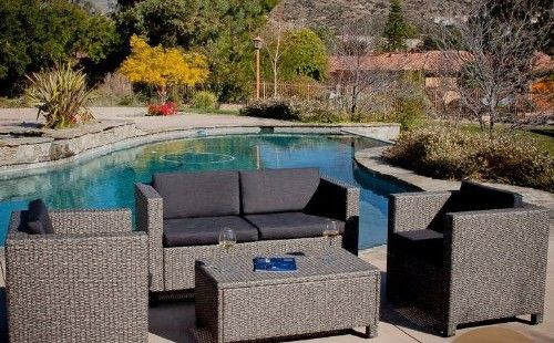 best christopher knight home puerta grey outdoor wicker sofa set image-Fancy Christopher Knight Home Puerta Grey Outdoor Wicker sofa Set Plan