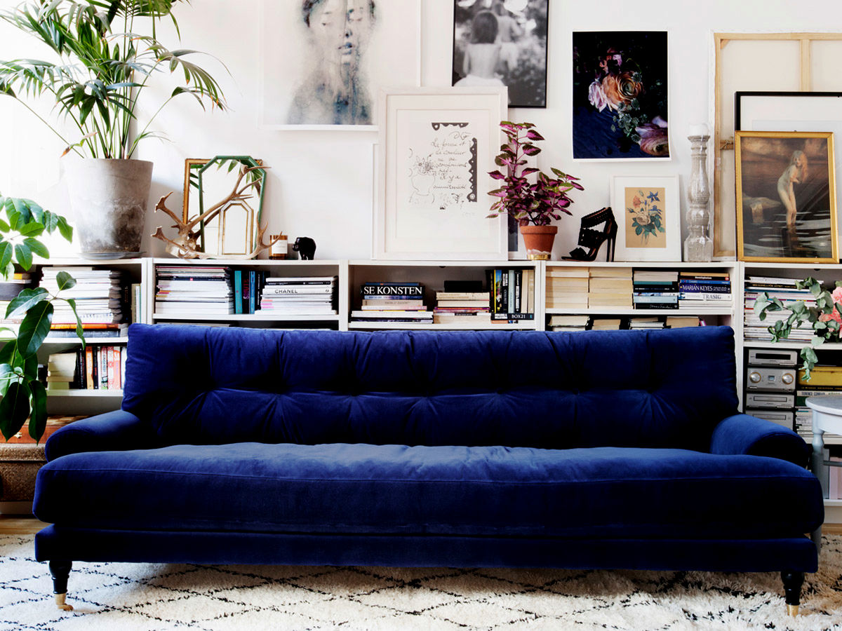 best navy velvet sofa design-Cute Navy Velvet sofa Layout