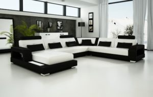Black and White sofa Beautiful Olympian sofas Pesaro White Black Leather sofa Sectional sofas Pattern