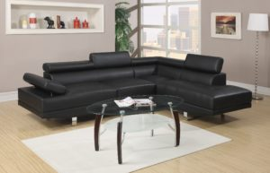 Black Sectional sofas Fantastic F Black Sectional sofa by Poundex Design