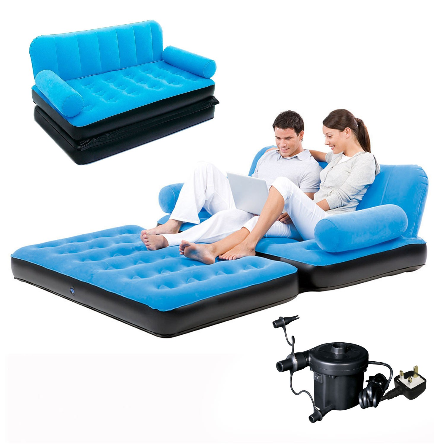 Blow Up sofa Latest Inflatable Double sofa Air Bed Couch Blow Up Mattress with Pump Image