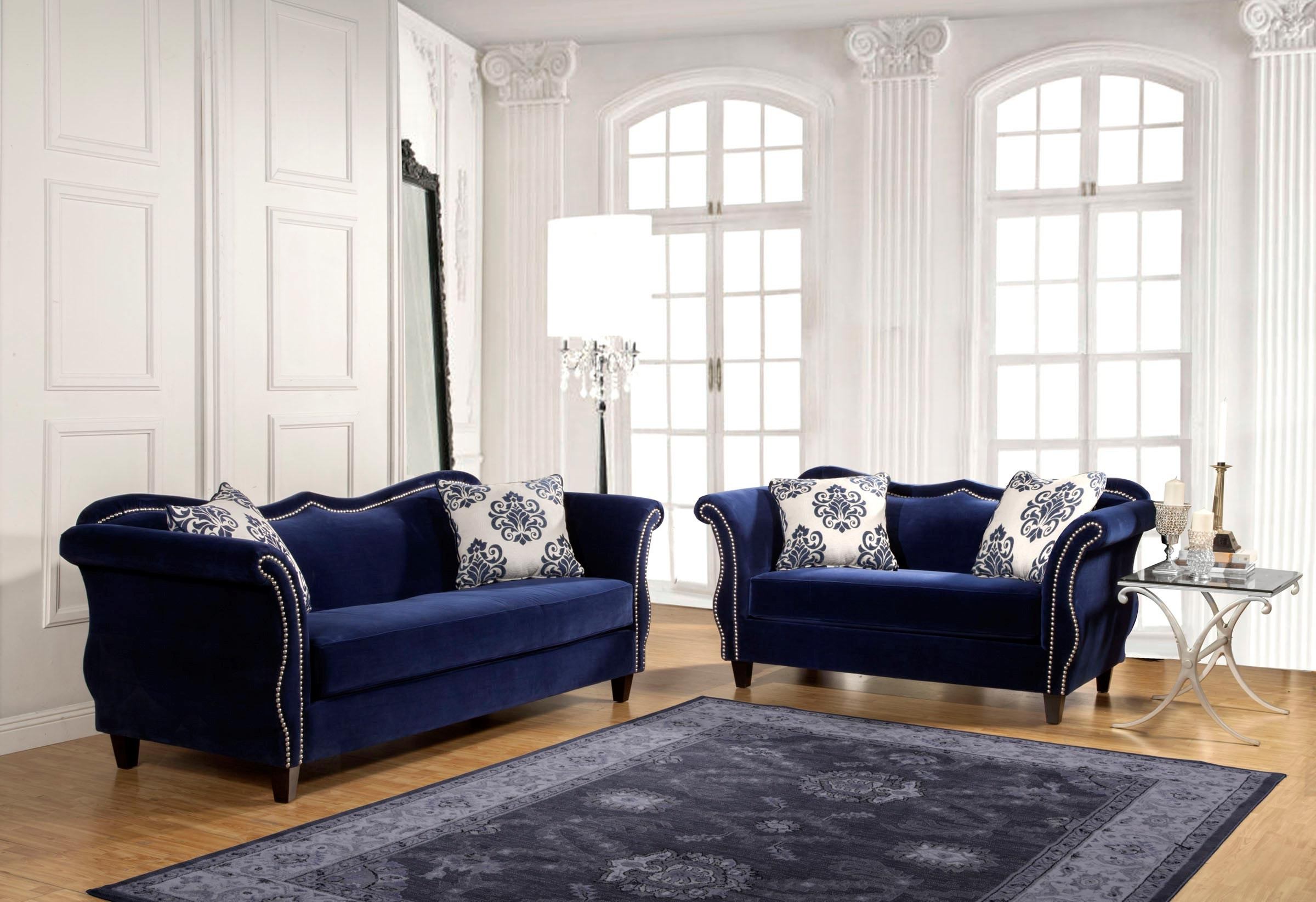 Blue sofa Set Best 2 Pcs Royal Blue sofa Set Décor