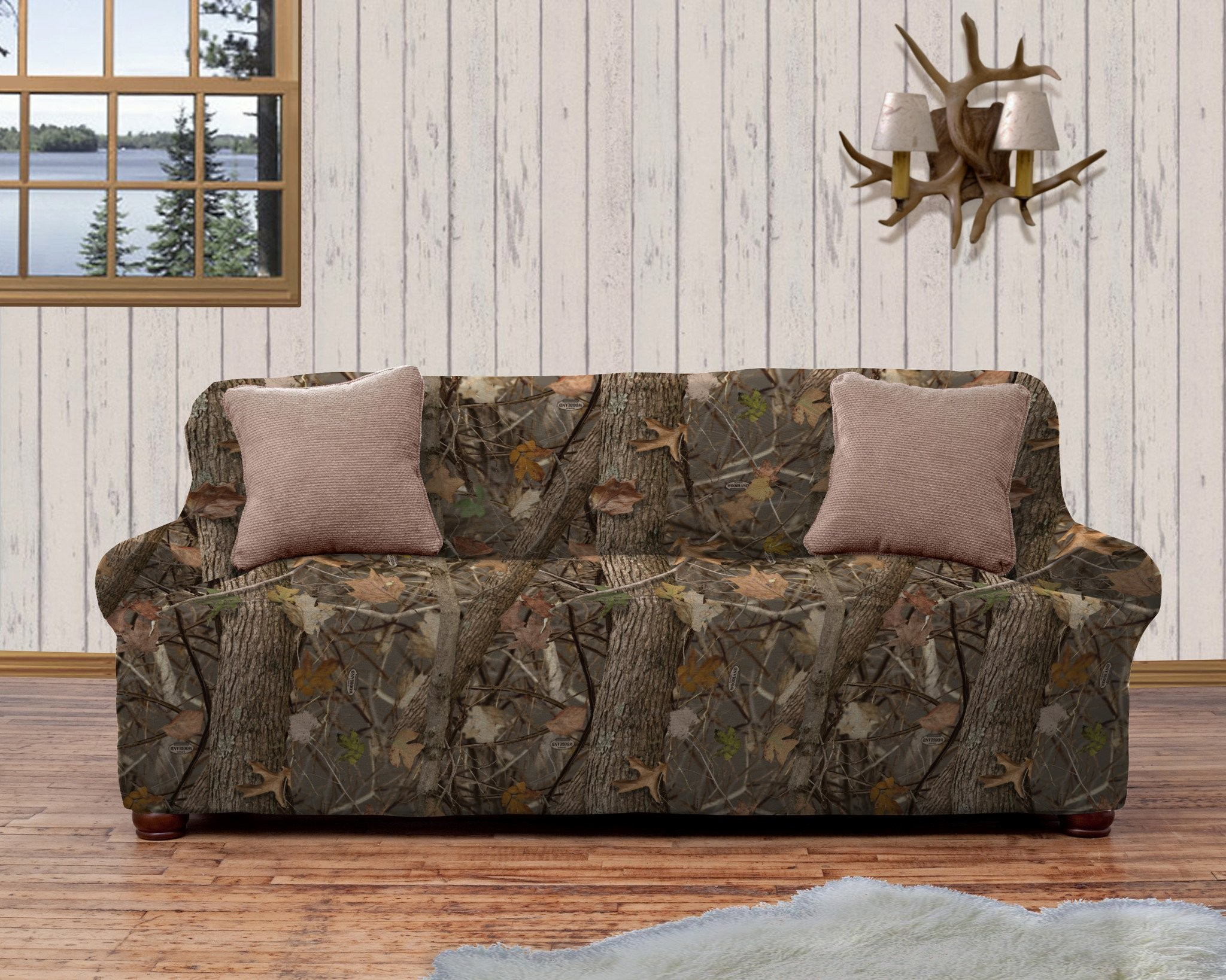 Camo sofa Cover Amazing Kings Camo Woodland Shadow Strapless Slipcover Portrait