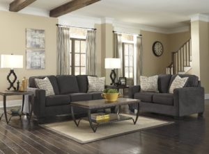 Charcoal sofa Set Finest ashley Alena Charcoal sofa and Loveseat Wallpaper