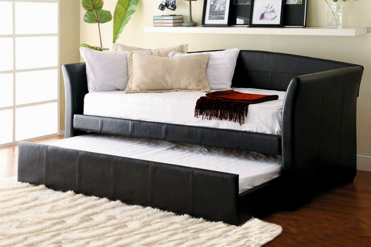 contemporary black faux leather sofa image-Finest Black Faux Leather sofa Picture