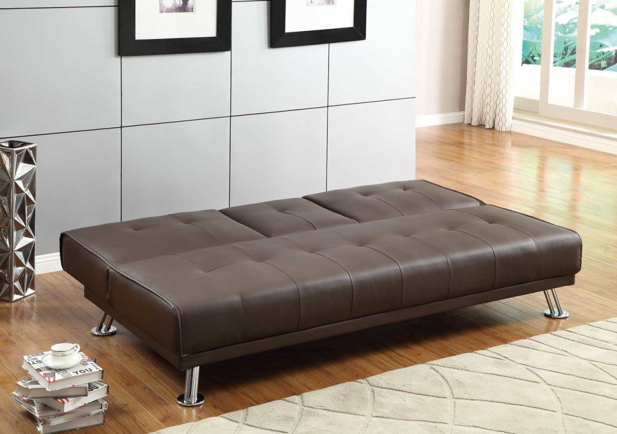Elegant Click Clack Sofa Bed With Storage Plan Modern