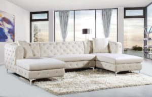 Cream Sectional sofa Best Gail Cream Sectional sofa Meridian Furniture Sectional sofas Concept