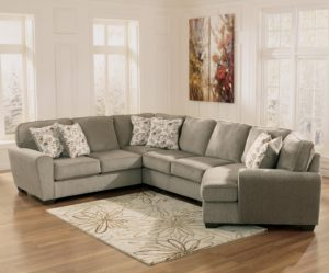Cuddler Sectional sofa Modern Patina 4 Piece Small Sectional with Right Cuddler Rotmans Design