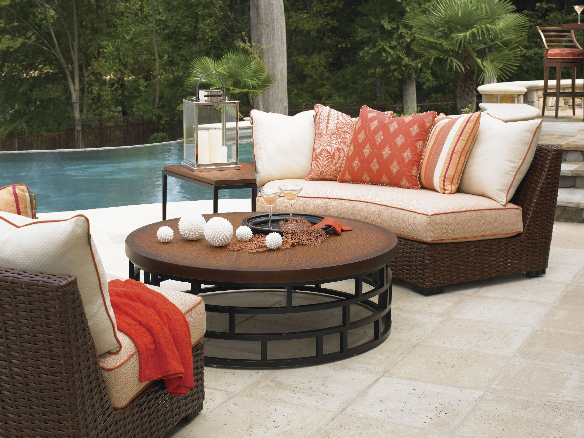 Curved Outdoor sofa Luxury Curved Outdoor Sectional sofa Concept