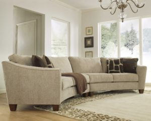 Curved sofa Sectional Beautiful Curved Sectional sofa Set Rich fortable Upholstered Fabric Gallery