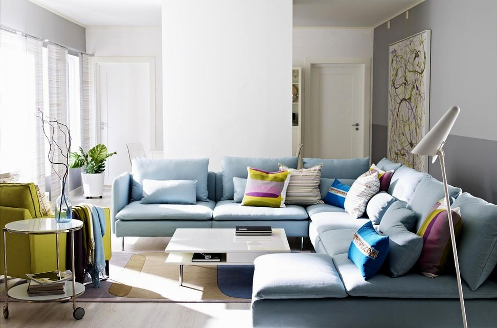 cute sectional sofa blue pattern-Elegant Sectional sofa Blue Picture