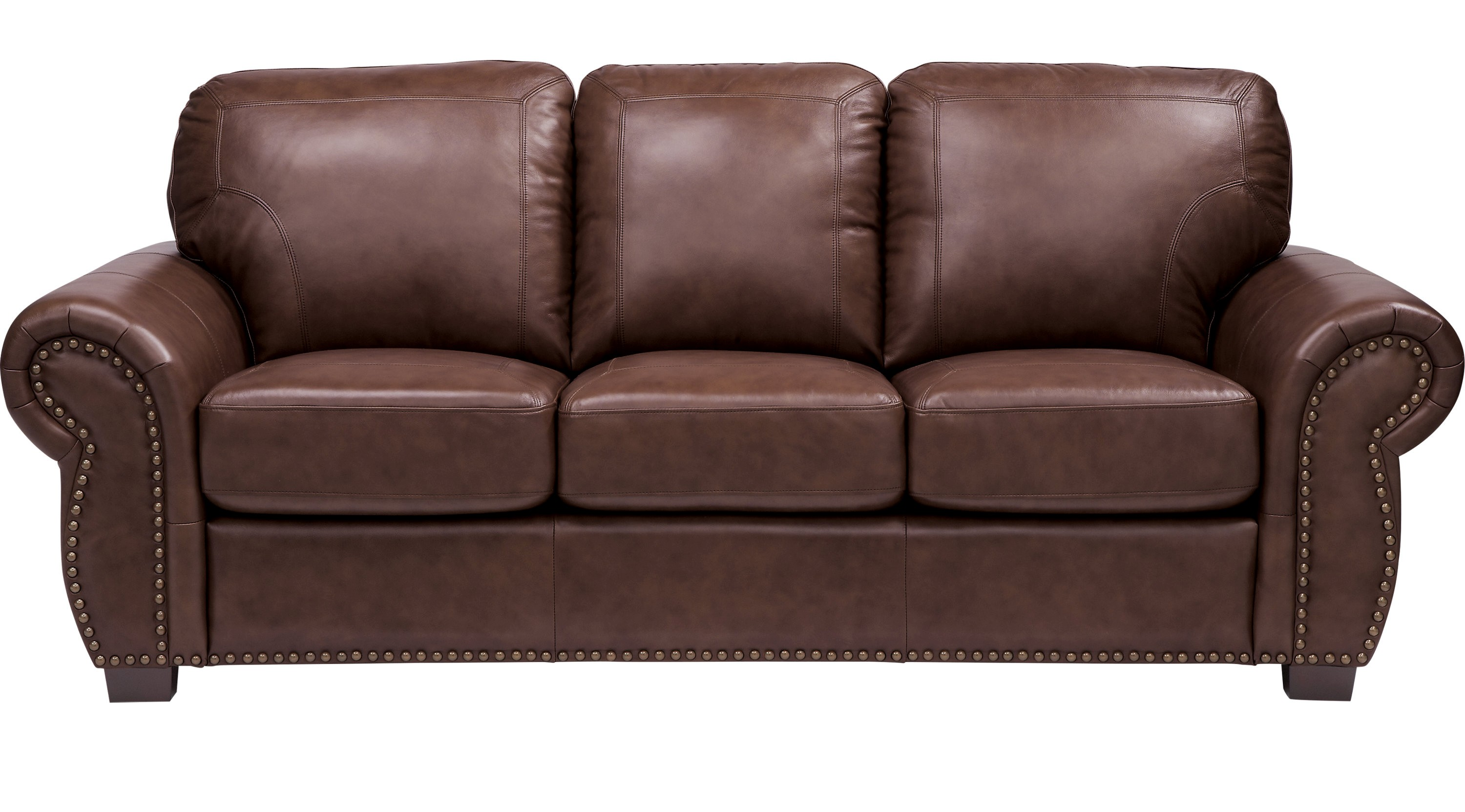 Dark Brown sofa top Balencia Dark Brown Leather sofa Classic Traditional Inspiration