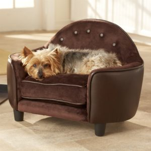 Dog Bed sofa Terrific Plush Dog Bed sofa with Headboard In Brown Pebble Color Décor