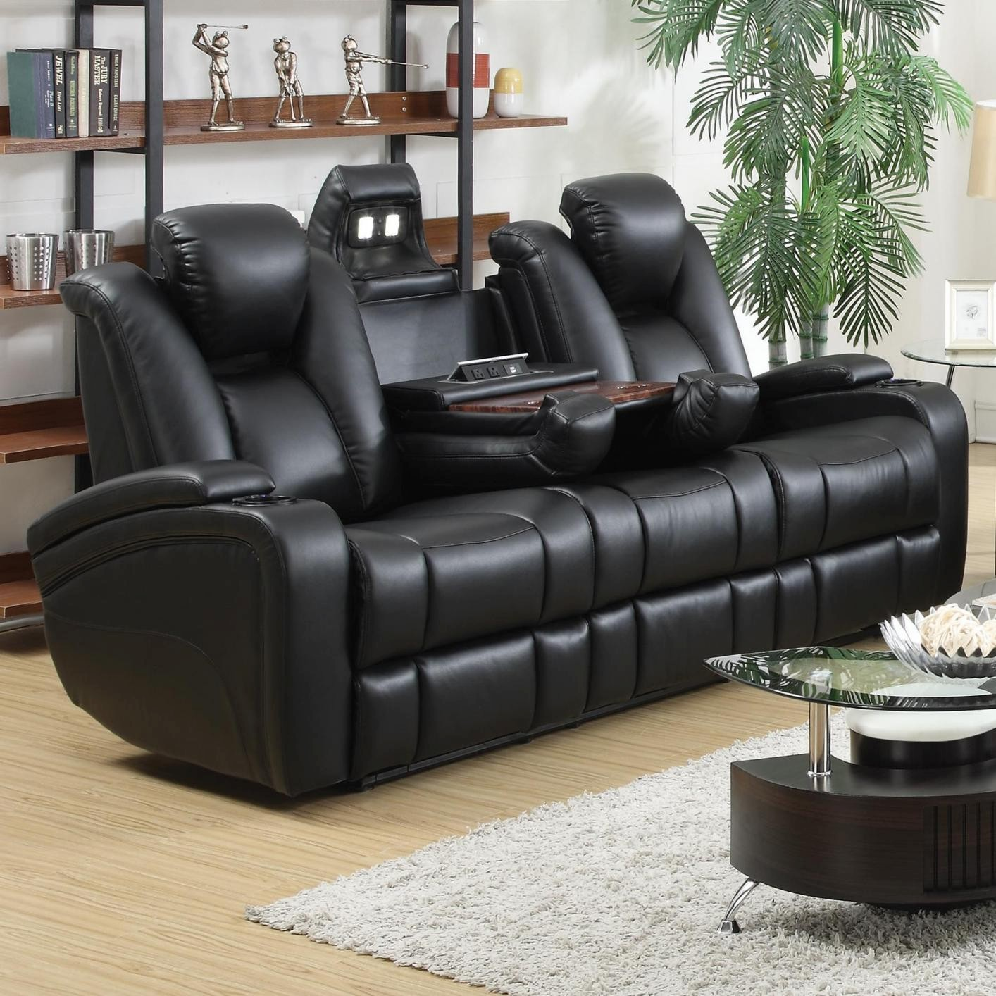 Electric Reclining sofa Best Of Black Leather Power Reclining sofa Steal A sofa Furniture Outlet Photograph