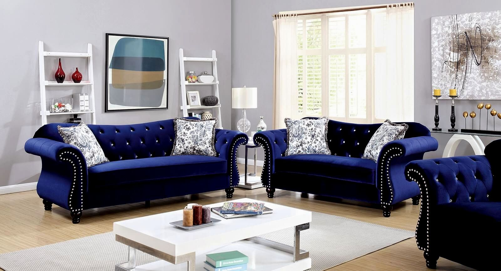 elegant blue sofa set picture-Awesome Blue sofa Set Gallery