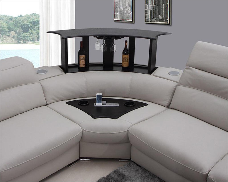 elegant grey leather sectional sofa photo-Best Grey Leather Sectional sofa Collection
