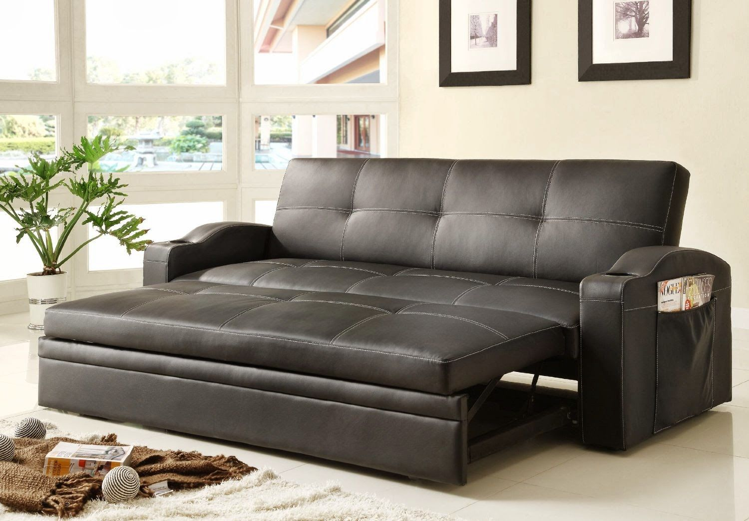 elegant leather sofa beds photo-Contemporary Leather sofa Beds Pattern