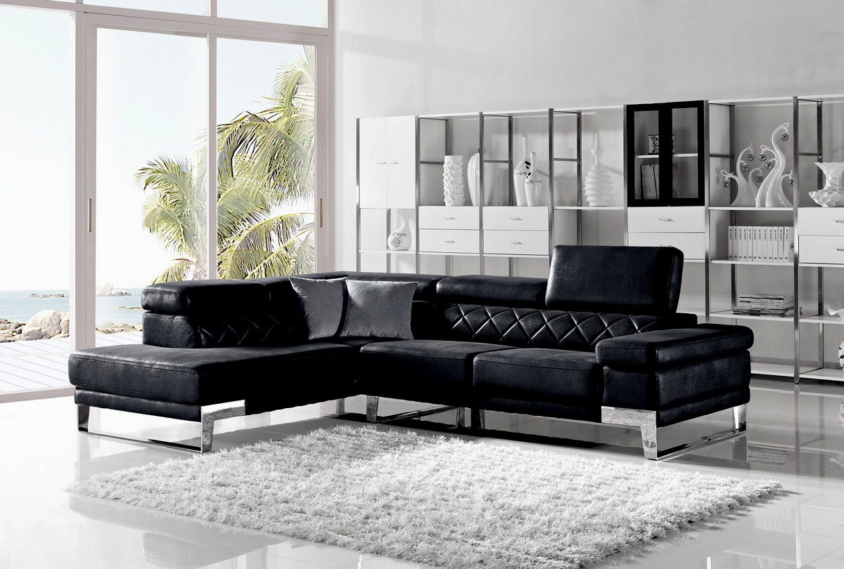 elegant modern leather sofas picture-Modern Modern Leather sofas Layout