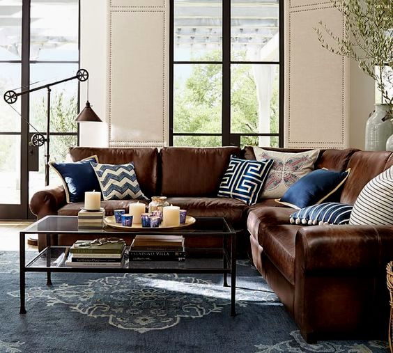 elegant navy blue leather sofa photograph-Amazing Navy Blue Leather sofa Gallery
