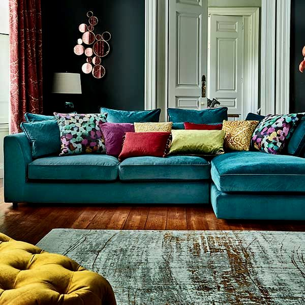 elegant navy velvet sofa photo-Cute Navy Velvet sofa Layout