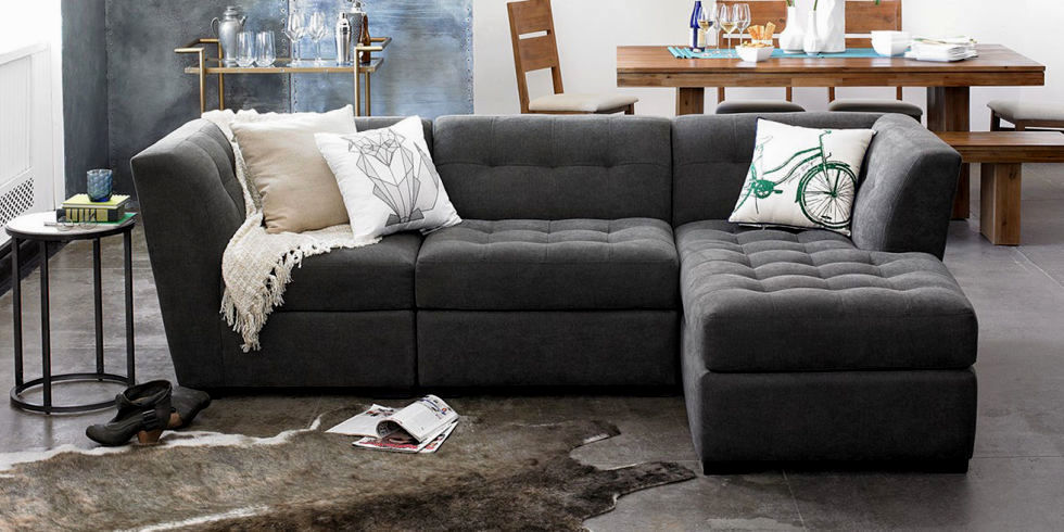 excellent gray tufted sectional sofa photograph-Fresh Gray Tufted Sectional sofa Photo