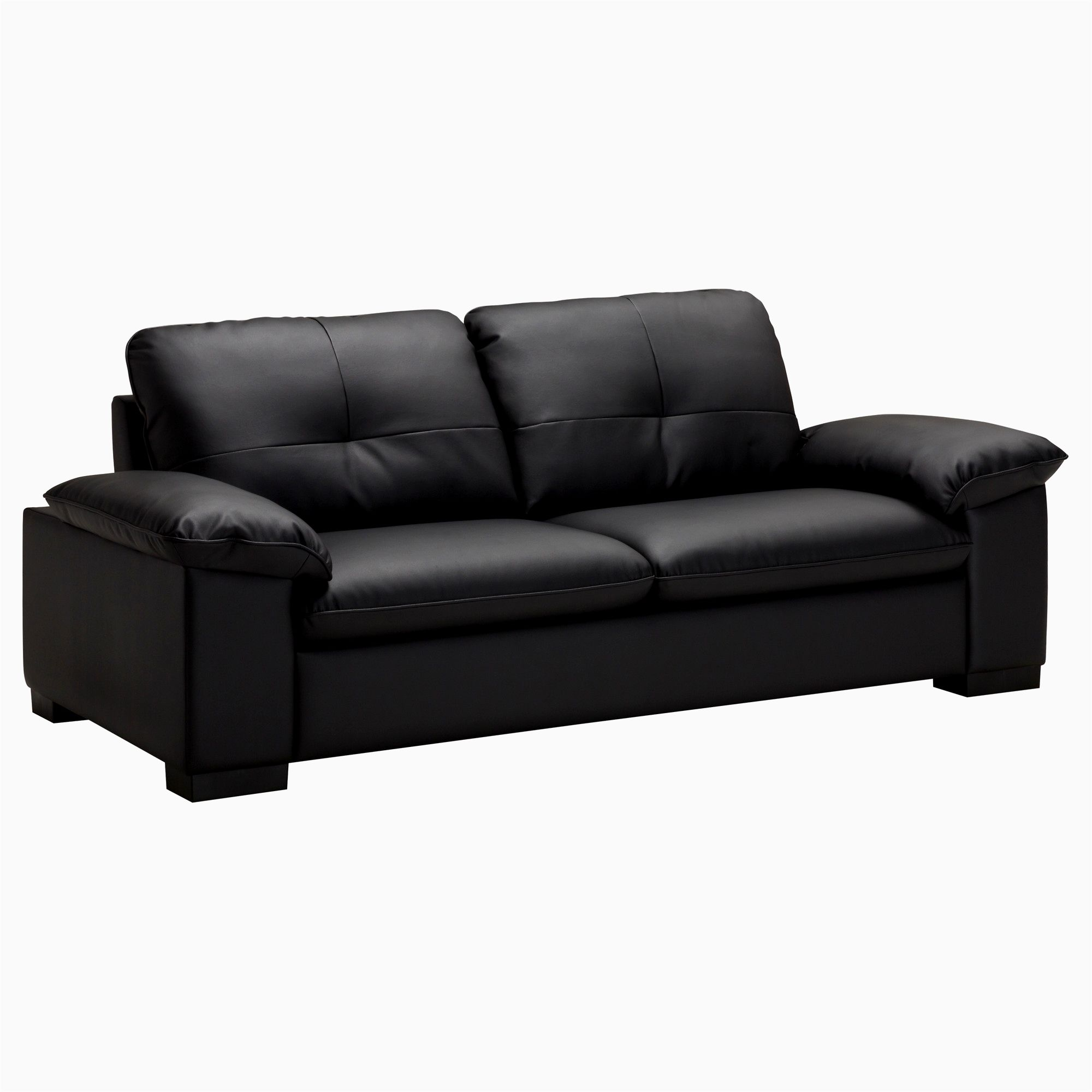 fancy black faux leather sofa image-Finest Black Faux Leather sofa Picture