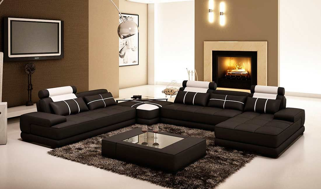fancy black leather sectional sofa design-Fresh Black Leather Sectional sofa Portrait