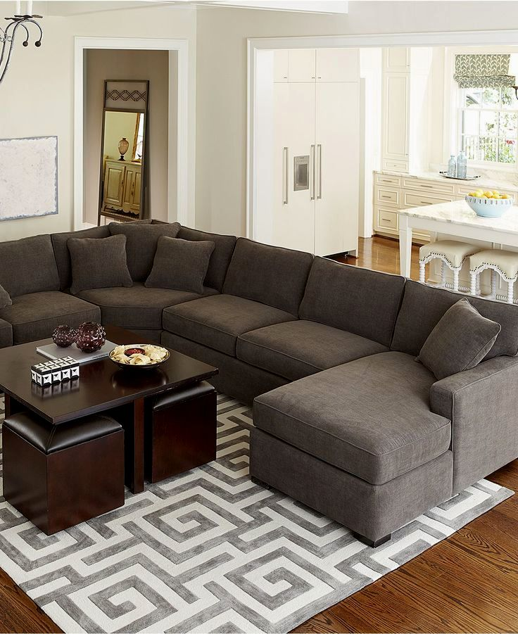 16 Great Ways To Dress Up A Drab Hallway: Terrific Sectional Pit Sofa Concept