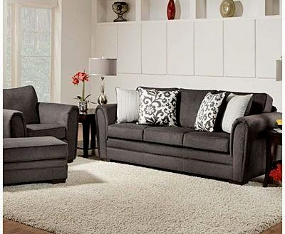 fascinating simmons flannel charcoal sofa picture-Beautiful Simmons Flannel Charcoal sofa Concept