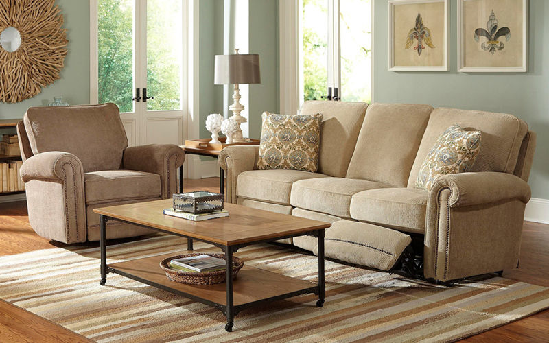 finest beige reclining sofa photo-Contemporary Beige Reclining sofa Concept