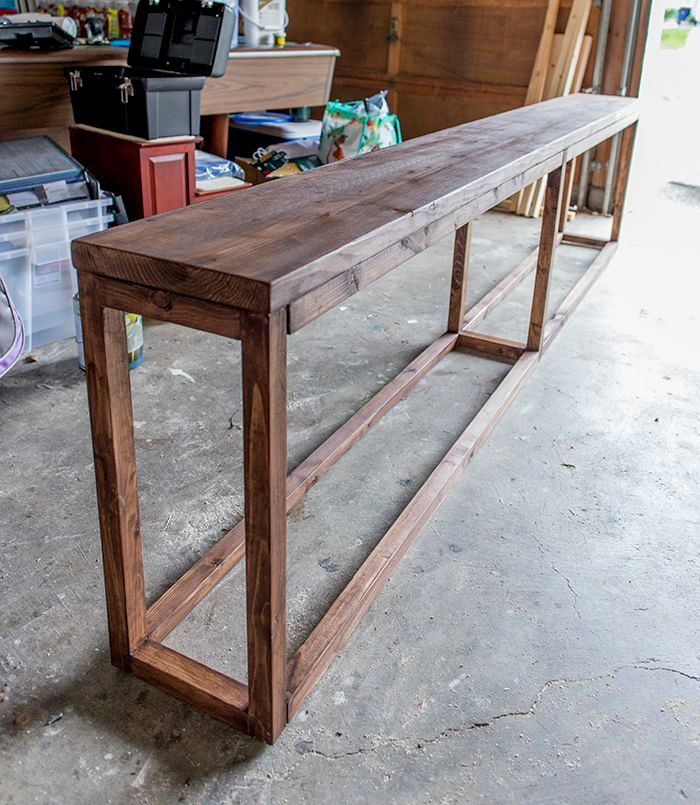 finest skinny sofa table construction-Modern Skinny sofa Table Plan