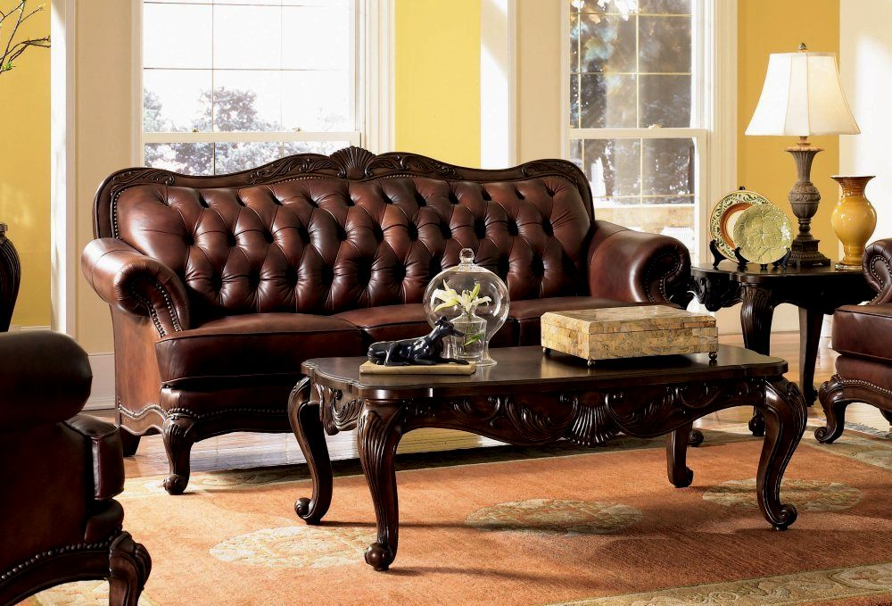 finest tufted leather sofa set image-Excellent Tufted Leather sofa Set Wallpaper