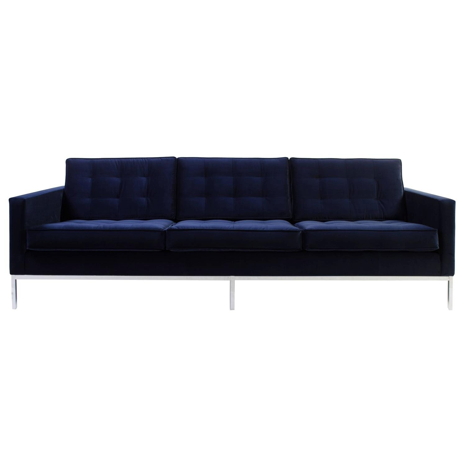 Florence Knoll sofa Fascinating Florence Knoll sofa In Navy Velvet for Sale at 1stdibs Décor