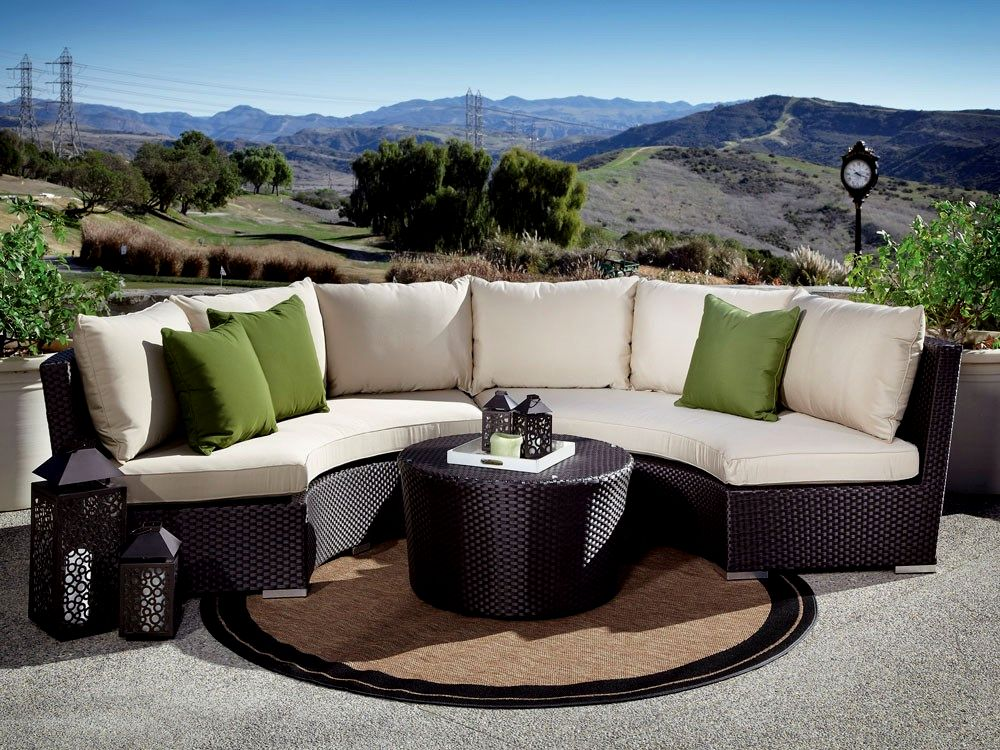 incredible curved outdoor sofa design-Modern Curved Outdoor sofa Photograph