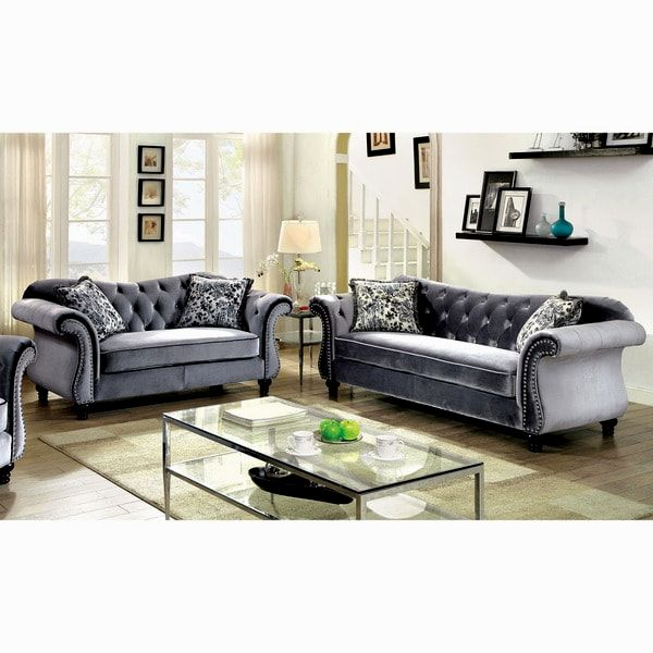 incredible gray sofa with nailhead trim online-Stylish Gray sofa with Nailhead Trim Ideas