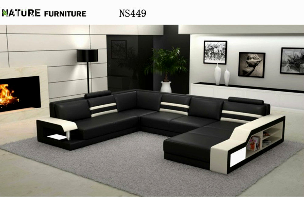 latest sectional leather sofa picture-Stylish Sectional Leather sofa Image
