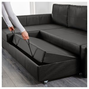 Leather sofa Beds Modern Friheten Corner sofa Bed with Storage Skiftebo Dark Gray Ikea Decoration