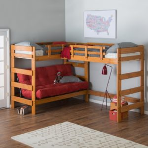 Loft Bed with sofa Awesome Woodcrest Heartland Futon Bunk Bed with Extra Loft Honey Pine Online