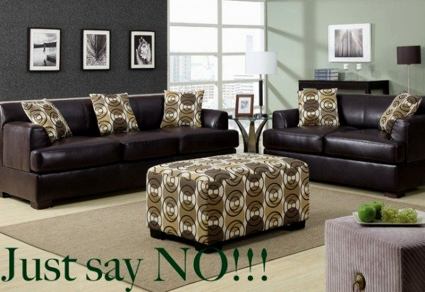 Lovely Leather Sofa And Loveseat Combo Layout Picture
