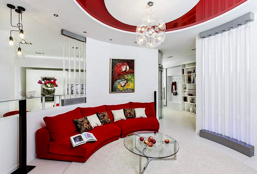 lovely modern red sofa image-Beautiful Modern Red sofa Photograph
