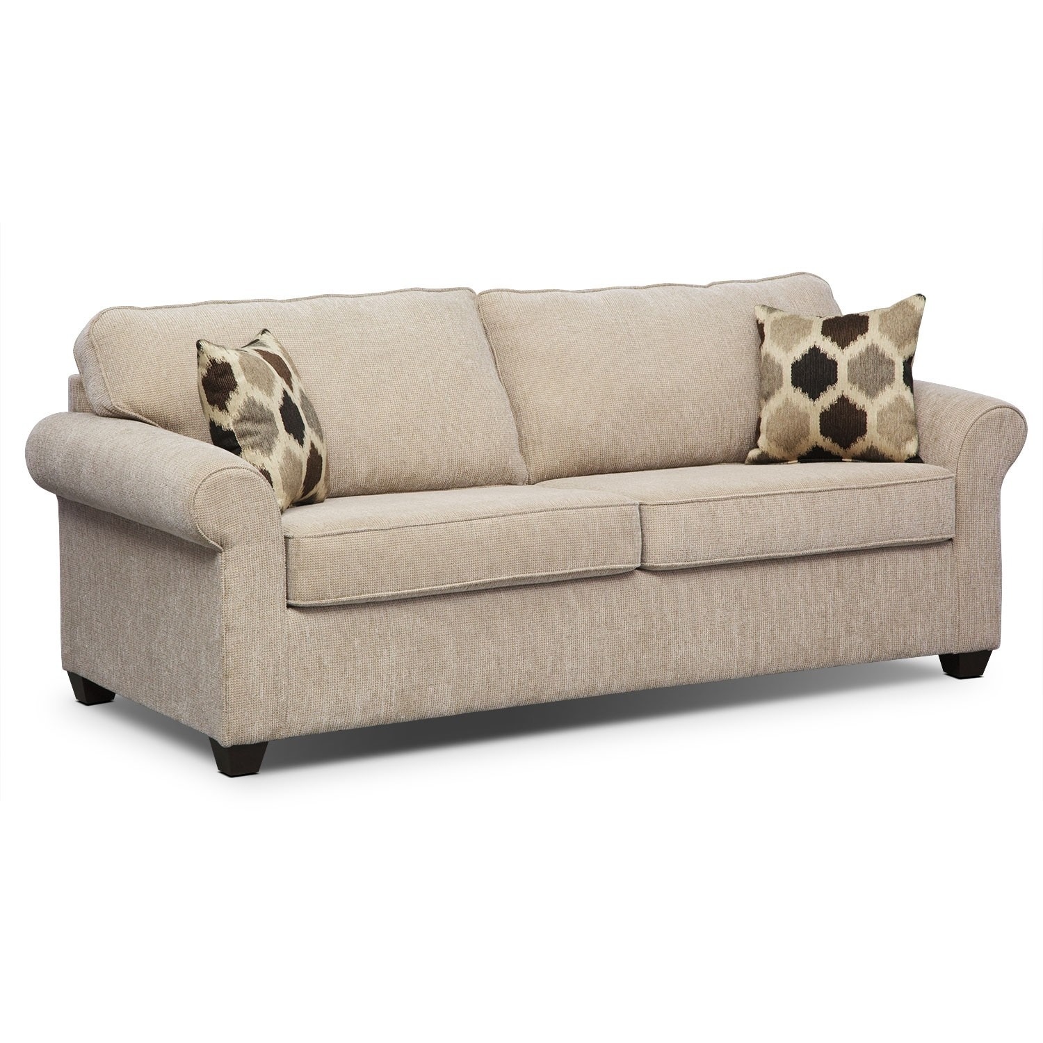 Memory Foam sofa Finest Fletcher Queen Memory Foam Sleeper sofa Beige Pattern