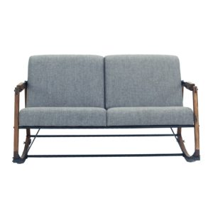 Metal sofa Bed Cute Flores2 Seater sofasuar Wood Framemetalupholstered Collection
